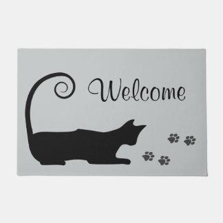 black cat art doormats & welcome mats   zazzle