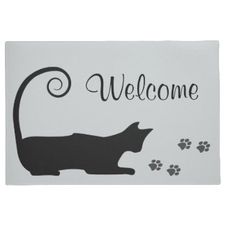 Black Cat Doormat  sc 1 st  Zazzle & Cat Doormats u0026 Welcome Mats | Zazzle pezcame.com