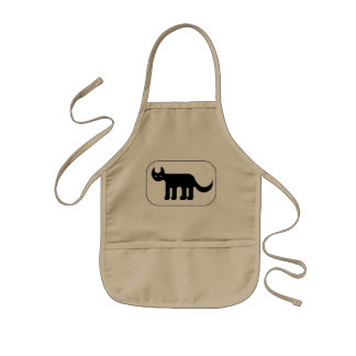 Black cat drawing apron