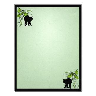 Black Cat Enchanted Letterhead