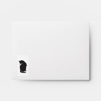 Black Cat Envelope for Notecards