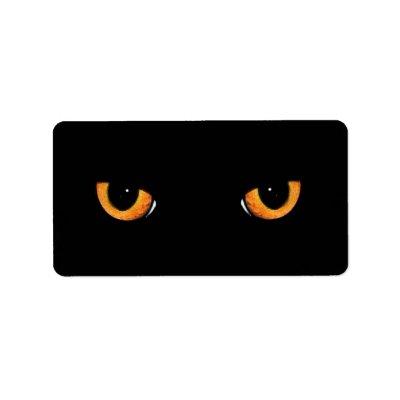 black cat eyes. Black Cat Eyes Address Labels