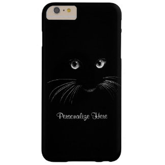 Black Cat Eyes and Whiskers to Personalize Barely There iPhone 6 Plus Case