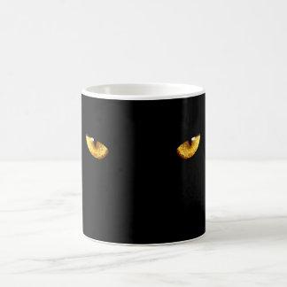 Black cat eyes coffee mug