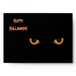 Black Cat Eyes Halloween Party Envelopes