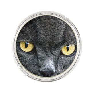 Black Cat Eyes Lapel Pin