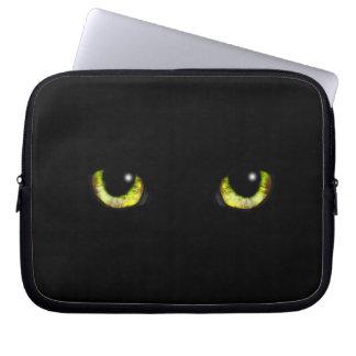 Black Cat Eyes - Magical Gaze Laptop Sleeve