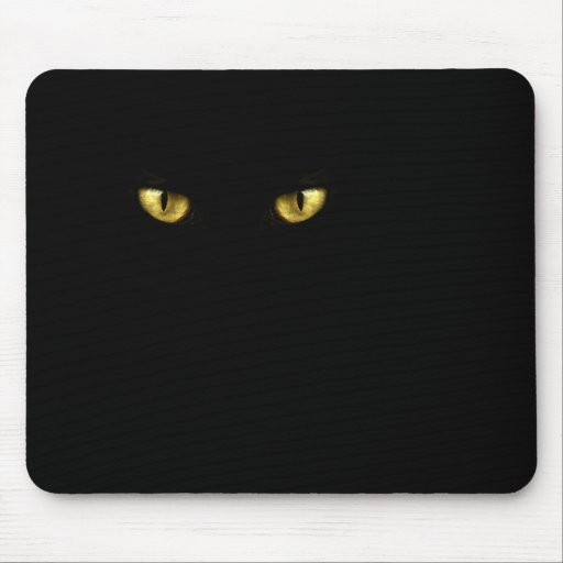 Black Cat Eyes Mousepad