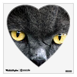 Black Cat Eyes Wall Sticker