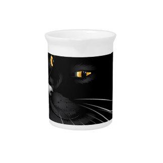 Black cat face 4 drink pitcher