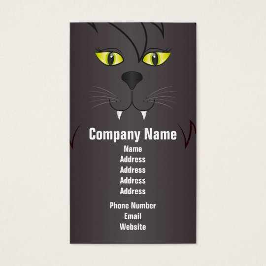 Black Cat Face Business Card