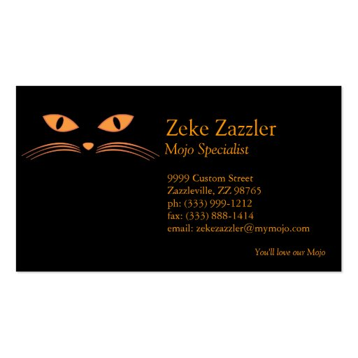 Black Cat Face Business Card