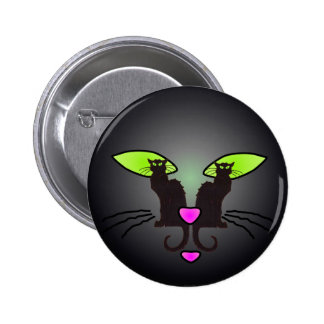 BLACK CAT FACE by SHARON SHARPE Pin