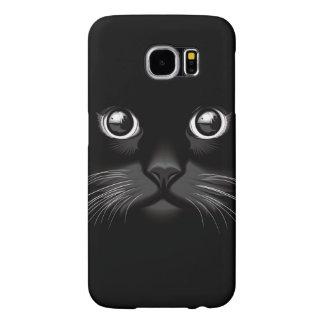 Black Cat Face Eyes Samsung Galaxy S6 Case
