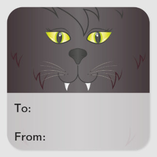 Black Cat Face Gift Tags
