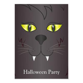 Black Cat Face 5x7 Paper Invitation Card