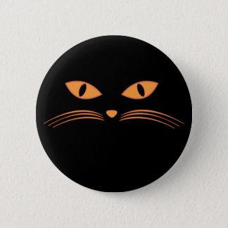 Black Cat Face Pinback Button