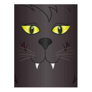 Black Cat Face Postcard