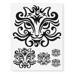 Black Cat Face Temporary Tattoos