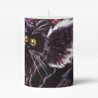 Black Cat Fairy Candle