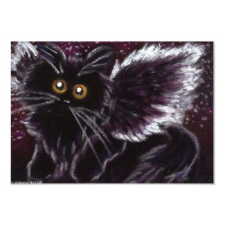 Black Cat Fairy Cat Invitations