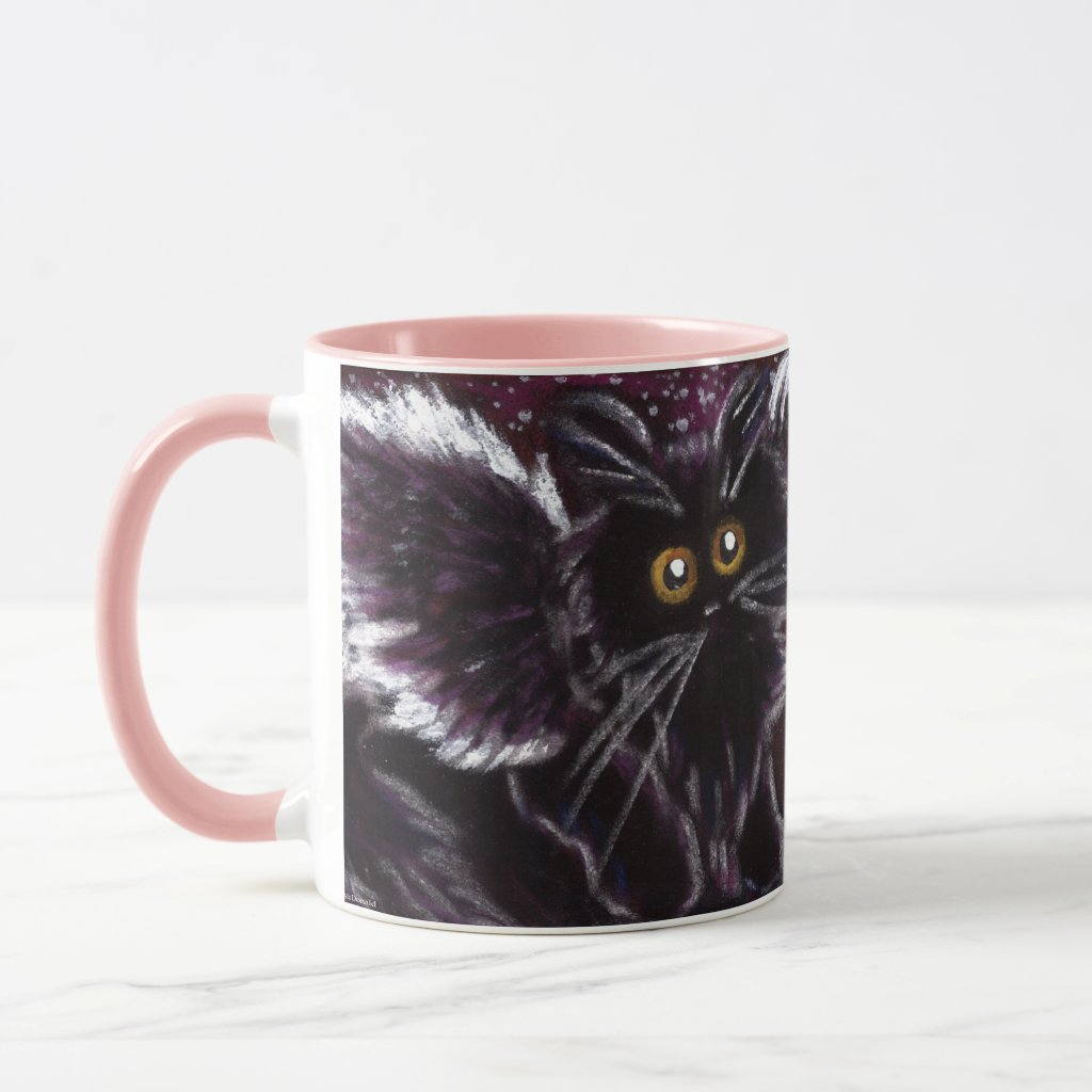 Black Cat Fairy Cat Scaredy Cat Mug
