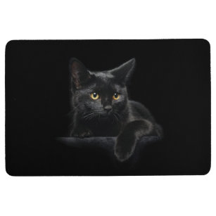 Black Cat Indoor Floor Mats Amp Rugs Zazzle
