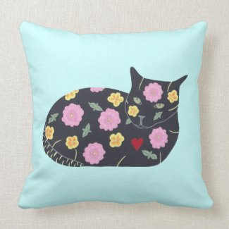 Black Cat Flowers Plants Cats Can Eat Pillows