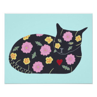 Black Cat Flowers Plants Cats Can Eat Posters