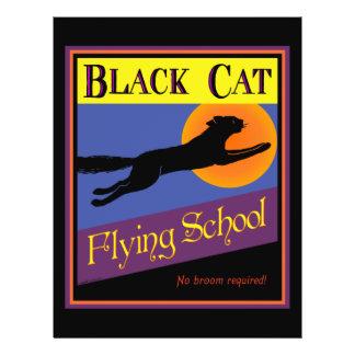 Black Cat Flying School Halloween Flyer