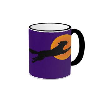 Black Cat Flying School Vintage Coffee Mug