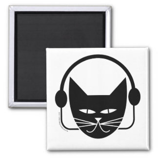Black Cat FM Fridge Magnet