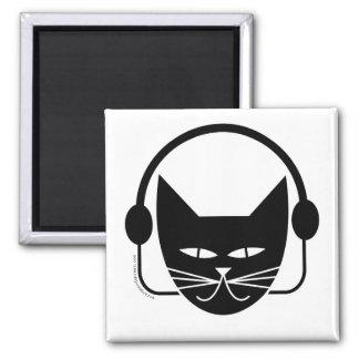 Black Cat FM Fridge Magnet