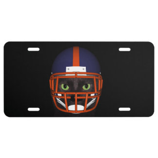 Black cat football player license plate