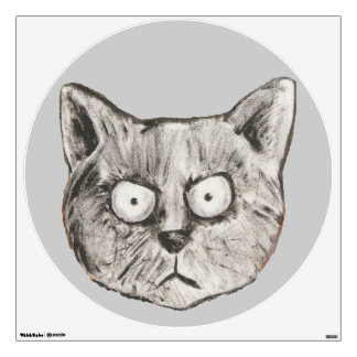 Black cat for walls wall decal