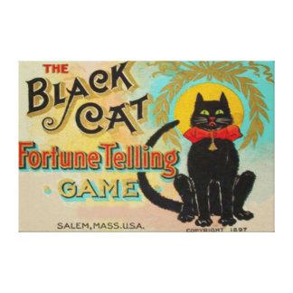Black Cat Fortune Telling Game Canvas Print