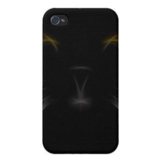 Black Cat Fractal iPhone4 iPhone 4/4S Case