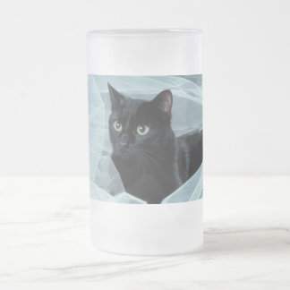 Black Cat Frosted Mug