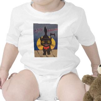 Black Cat Full Moon Bat Bodysuit