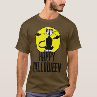 Black Cat & Full Moon T-Shirt
