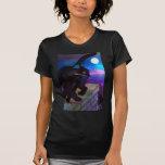 Black Cat Full Moon T Shirt