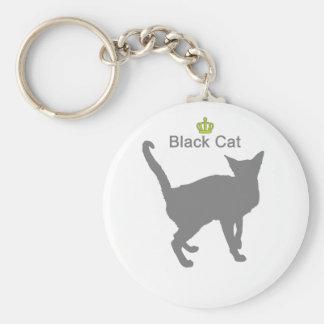 Black Cat g5 Basic Round Button Keychain
