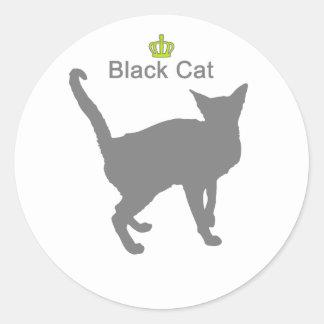 Black Cat g5 Classic Round Sticker