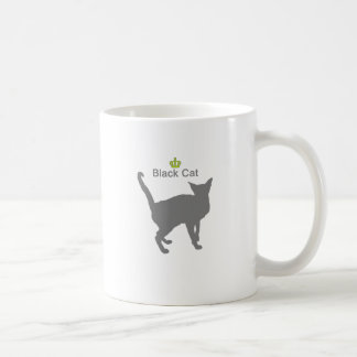 Black Cat g5 Classic White Coffee Mug