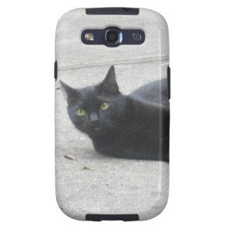 Black  Cat Galaxy SIII Case
