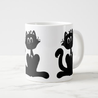 Black Cat Giant Coffee Mug