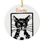 Black Cat Gifts Double-Sided Ceramic Round Christmas Ornament