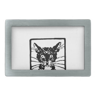 Black Cat Gifts Rectangular Belt Buckle