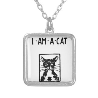 Black Cat Gifts Silver Plated Necklace