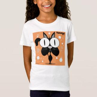 Black Cat Girls' Bella Fitted Babydoll T-Shirt